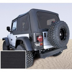 Rugged Ridge Soft Top Diamond Black Jeep Wrangler 1997-2006