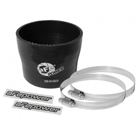 "AFE Coupling Kit: (3-1/2 x 3-3/4"") ID x 3"" L Reducer (Silicone Black)"