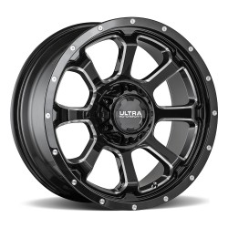 "20"" Ultra Wheel Nemesis Ram 1500 Jeep JK 20x9 Black 5x139.7 / 5x127 Set"