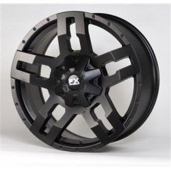 "20"" FX Wheels Set Dodge Ram 1500 5x139.7 20x9 +20mm Satin Black"
