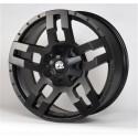 """20"""" FX Wheels Set Dodge Ram 1500 5x139.7 20x9 +20mm Satin Black"""