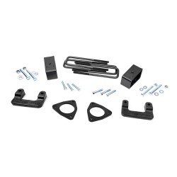 "Rough Country 2.5"" Lift Kit Silverado Sierra 2007-2017 Cast Aluminum Control Arm"
