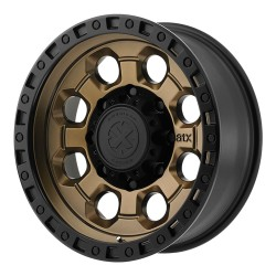 "ATX 17"" Wheel Set Jeep Wrangler JK JL 17x9 5x127 -12mm Matte Bronze W/Black Lip"