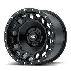 "XD Series 17"" Wheel Set Jeep Wrangler JK JL 17x9 -12mm 5x127 Satin Black"