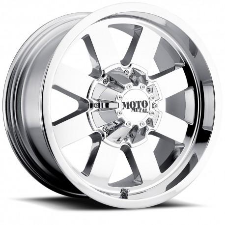 "Moto Metal 20"" Silverado Sierra 2500 3500 8x180 20x9 0mm Chrome"