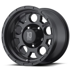 "XD Series 17"" Enduro Jeep Wrangler JK JL 17x9 -6mm 5x127 Matte Black"