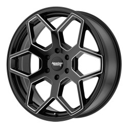 "20"" AR916 Silverado Sierra Yukon Tahoe Escalade 6x139.7 +15mm Gloss Black Milled"