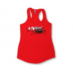 Ladies Red LS Fest Tank MEDIUM