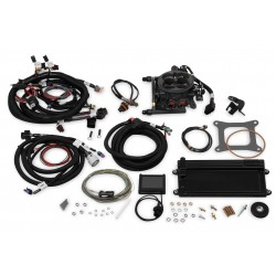 Holley Terminator LS TBI Kit - Hard Core Gray w/ Transmission Control GM LS1/LS6 Engines & 1999-2007 4.8/5.3/6.0