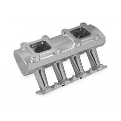 Holley Sniper Sheet Metal Fabricated Intake Manifold Hi-Ram LS7 2x4 EFI + Fuel Rail Kit Silver