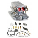 Holley Small Block Chevy Polished Stealth Ram Multi-Port Power Pack kit for Vortec heads