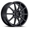 """17"""" Ultra Wheel Set Honda Subaru Mazda Nissan 5x114.3 / 5x100 +42mm Black"""