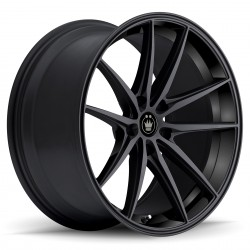 "18"" Konig Wheel Set Honda Mazda Nissan 18x8 +35mm Gloss Black 5x114.3"