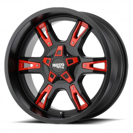 "20"" Moto Metal MO969 F250 F350 Wheel Set Black & Red 20x9 8x170mm"