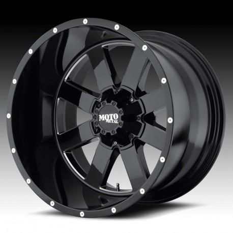 """Moto Metal 20"""" Ford F250 F350 Wheel Set Black 20x9 8x170 0mm"""