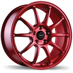 "18"" Fast Wheel Set Honda Mazda Lexus Kia Hyundai 18x8 +35mm Matte Red"