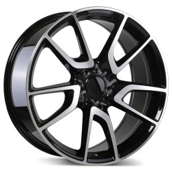 "Replica 19"" Wheel Set Audi Volkswagen Gloss Black Machined Face 5x112 +40mm"
