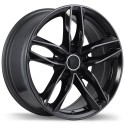 "17"" Replika Wheel Set Audi Volkswagen 5x112 +45mm Gloss Black"