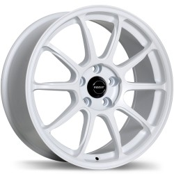 "18"" Fast Wheel Set Honda Mazda Lexus Kia Hyundai 18x8 +35mm Matte White"