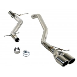 """AFE MACH Force-Xp 2-1/2"""" 304 Stainless Steel Cat-Back Exhaust System VW Jetta 2009-2010 L4-2.0L TDI"""