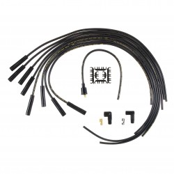 Accel Spark Plug Wire Set- 8mm - Black Wire with Black Straight Boots Chevrolet Camaro 1967-1972