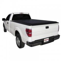 Acces Cover Tonneau Cover Original Soft Roll-Up Velcro Lockable Using Tailgate Handle Lock Black Vinyl
