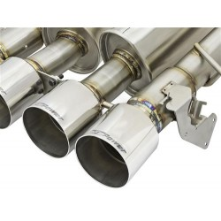 """AFE MACH Force-Xp 3"""" to 2-1/2"""" 304 Stainless Steel Axle-Back Exhaust System Chevrolet Corvette 2014-2018 V8-6.2L (LT1)"""