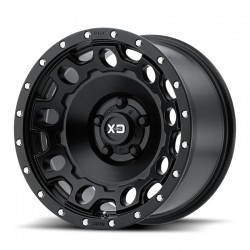 "17"" XD Series Wheel Set (5) Jeep Wrangler JK JL 17x9 -12mm 5x127 Satin Black"
