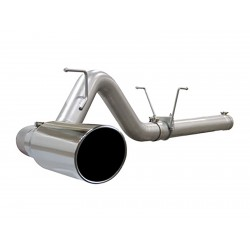 "AFE Large Bore-HD 4"" 409 Stainless Steel DPF-Back Exhaust System Dodge Diesel Trucks 2008-2012 6.7L"