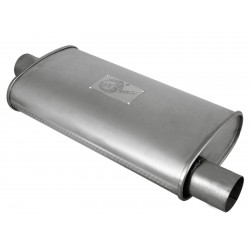 "AFE Scorpion 2-1/2"" Aluminized Steel Chambered Center-Offset Muffler"