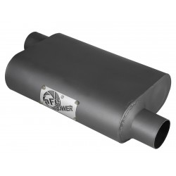"AFE Scorpion-1/2"" Aluminized Steel Baffled Offset Muffler"