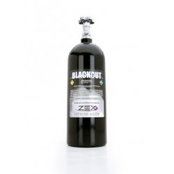 ZEX Nitrous Oxide Bottle 10 Pound Bottle Black Powdercoat Aluminum With Bottle Valve