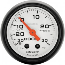 """Auto Meter Boost / Vacuum Gauge 2 1/16"""" Phantom"""