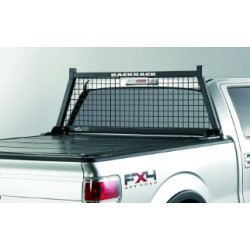 Backrack Truck Cab Protector / Headache Rack Safety Rack Wire Screen Powder Coated Black Steel Toyota Tacoma 1997-2019