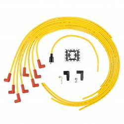 Accel Spark Plug Wire Set - 8mm - Yellow with Orange 90 Deg Boot