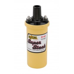 Accel  Ignition Coil - Yellow - 42000v 1.4 ohm primary - Points - good up to 6500 RPM