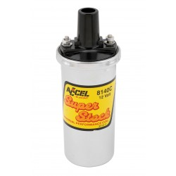 Accel Ignition Coil - Chrome - 42000v 1.4 ohm primary - Points - good up to 6500 RPM