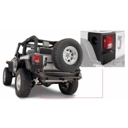 Bushwacker Jeep JK 2dr Rear Corner Matte Black