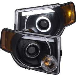 Anzo Ford Escape 2008-2012 Projector HL Black Clear Amber ( LED Halo)