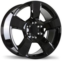 """22"""" Wheel Set Tahoe Yukon Escalade Sierra Silverado Black 22 Rim"""