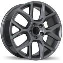 "Roue Mag 17"" Replika R151A Jetta Golf Audi Rim Roues 5x112 +45mm Gunmetal"