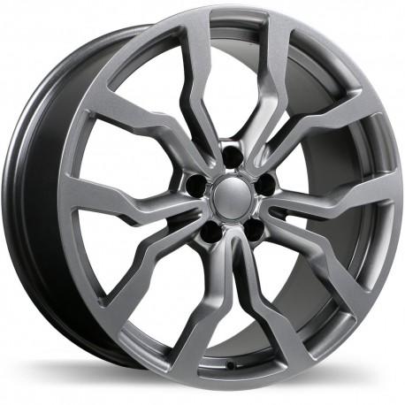 "Roue Mag 17"" Replika Jetta Golf Audi Rim Roues 5x112 +45mm Gunmetal"