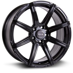 "16"" RTX Compass 5x114.3 +38mm Gloss Black Wheel Set"