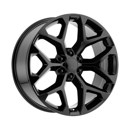 "20"" Wheel Set OE Creation 20x9 6x139.7 +24mm Gloss Black"