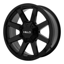 """20"""" Wheel Set Helo Ford F250 F350 20x9 0mm 8x170mm Gloss Black"""