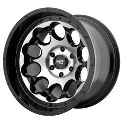 "20"" Wheel Set MO990 Silverado Sierra Ram 2019 20x9 6x139.7 0mm Gloss Black Machined"