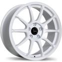"""18"""" Fast Wheel Set Dime Matte White 18x8 5x114.3 +35mm"""