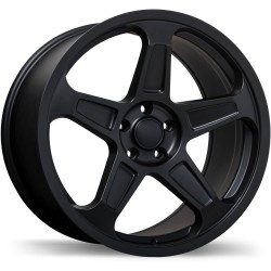 "20"" Replika Wheel Set Dodge Demon Staggered 20x9 & 20x10.5 Satin Black 5x115"