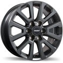 "20"" Fast Wheel Set Storm II 20x8.5 +35mm Gloss Gunmetal"
