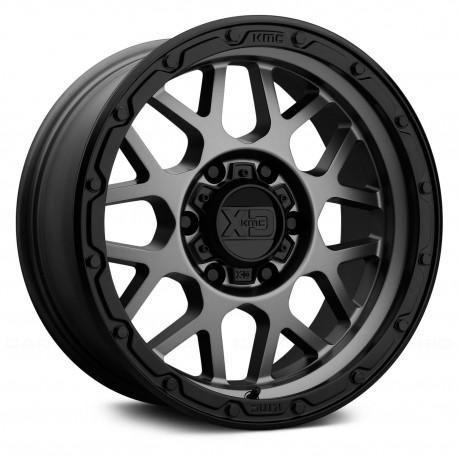 "18"" Wheel Set XD135 Grenade Jeep Wrangler 5x127 18x8.5 0mm Matte Gray & Black Lip"